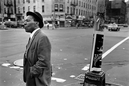 Dawoud Bey, A Man on the Corner of Lenox Avenue and 125th Street, 1976
