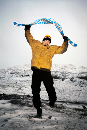 Sarah Anne Johnson, Arctic Circle Banner, 2011