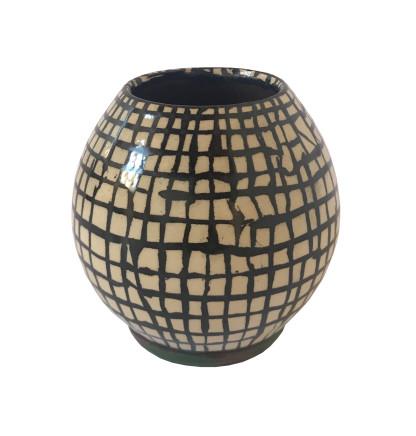 Martin Poppelwell, Small Grid (Vase), 2018