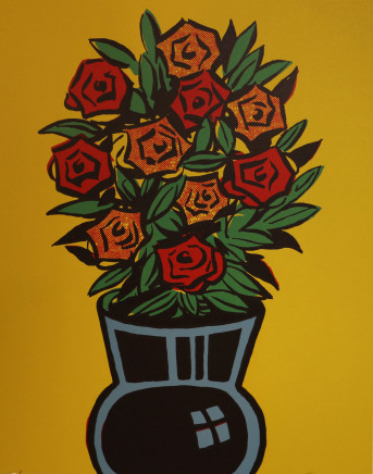 Dick Frizzell, Comic Roses, 2004