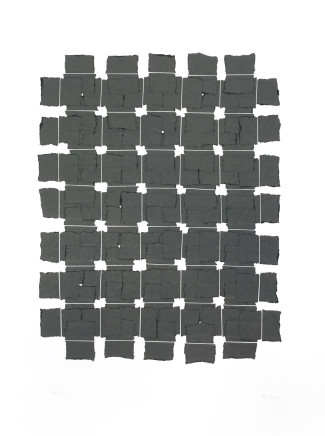 Veronica Herber, 7x5 Solid Grey Grid, 2017