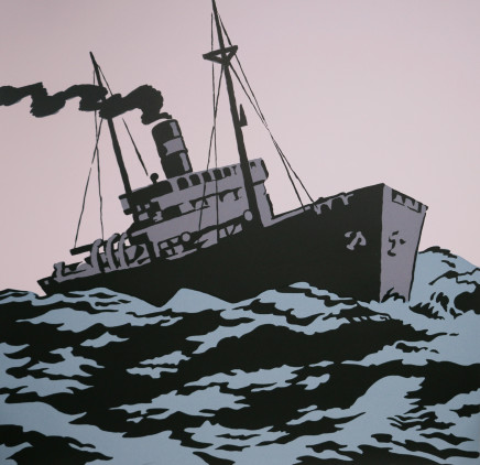 Dick Frizzell, Freighter in Heavy Sea, 2008