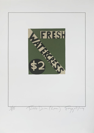 Dick Frizzell, Trickle Down (Green), 2004