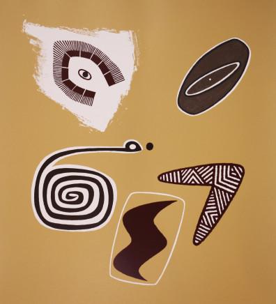Dick Frizzell, Ochre Tiki, 2006