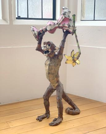 Hannah Kidd, Monkey Holding Vase, 2017