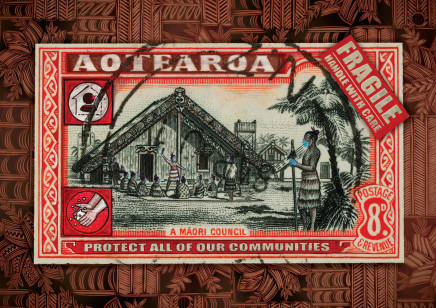 Michel Tuffery, Protect all of our Communities, Aotearoa, 2020