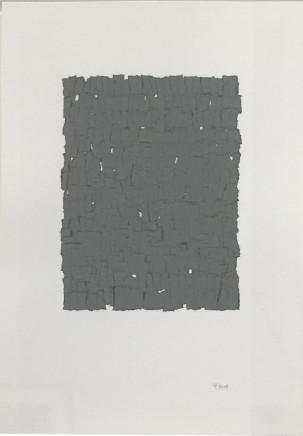 Veronica Herber, Remnant Grey Solid, 2018