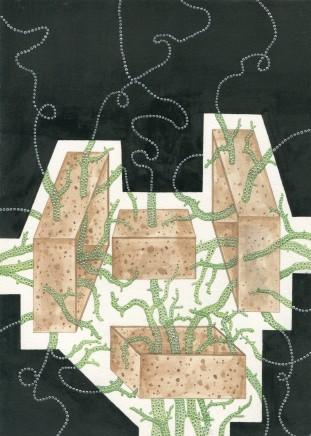 Zina Swanson, Twining Tendrils With Cork, 2014