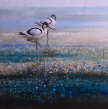 "Ewoud de Groot  AVOCET II  Oil on linen  36"" X 36"""
