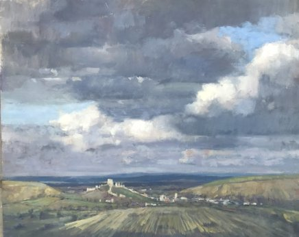 "Alice Boggis-Rolfe  CORFE CASTLE  Oil on Panel  20"" x 26"""