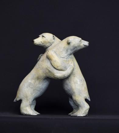 Bryn Parry BEAR HUG Bronze 31 X 31 X 23cm