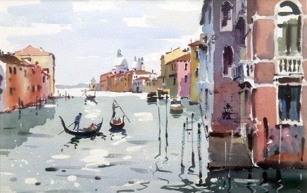 """Jake Winkle FROM ACADEMIA, VENICE Watercolour 13"""" X 18"""""""