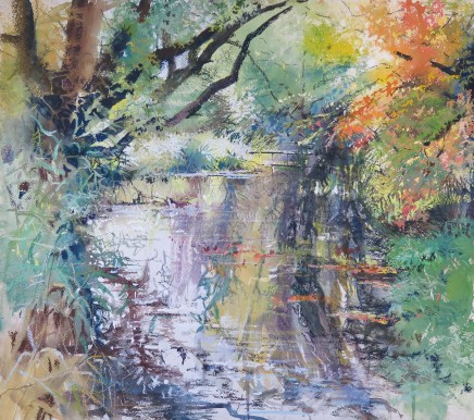 Maureen Davies  HOUGHTON REFLECTIONS  Pastel and gouache  56 X 62cm