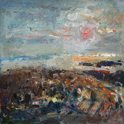 """Gareth Parry SUNSET OVER THE PENINSULA Oil on canvas 24""""X24"""""""