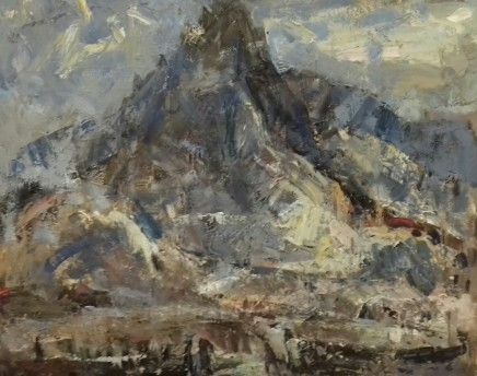 """Gareth Parry MOUNTAIN (TRYFAN, SNOWDONIA) Oil on linen canvas 20"""" x 24"""""""