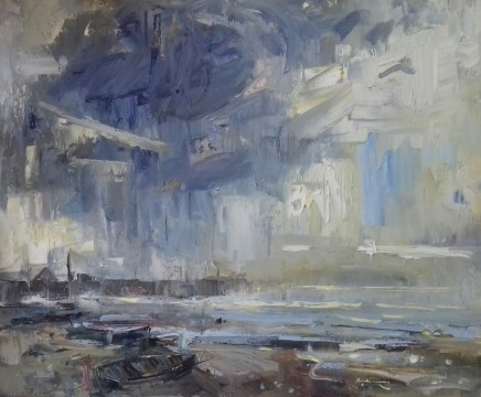 """Gareth Parry SUMMER STORM CLEARING Oil on canvas 24""""X20"""""""