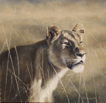 """Karen Laurence-Rowe MARA QUEEN Oil on Canvas 14"""" X 14"""""""
