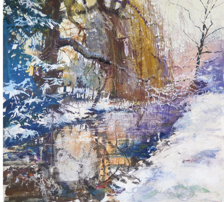 "Maureen Davies ROCKBOURNE SNOW Pastel and gouache 22"" x 24"""