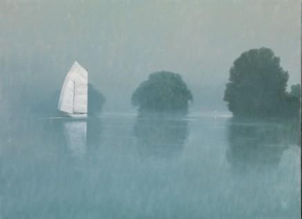 "Michael Bennallack Hart  WHITE LAKE  Oil on canvas  22"" x 30"""
