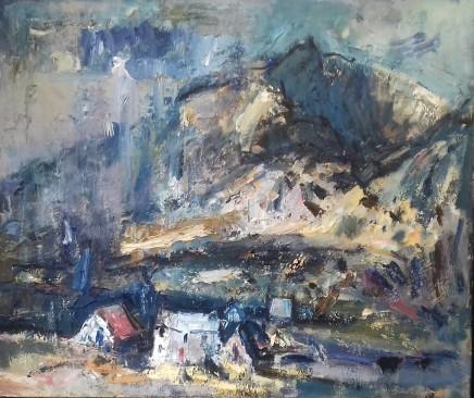 "Gareth Parry APRIL SHOWERS, HILL FARM, SNOWDONIA Oil on canvas 24"" x 30"""