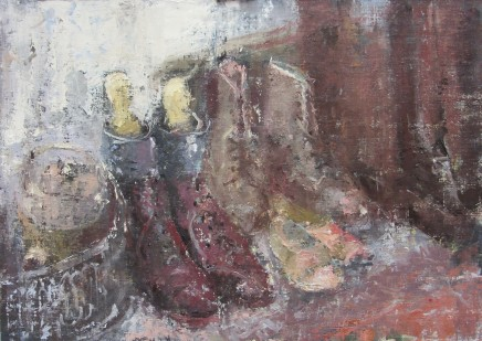 """Gerald Green BOOTS AND SHOES Oil 10"""" X 14"""""""