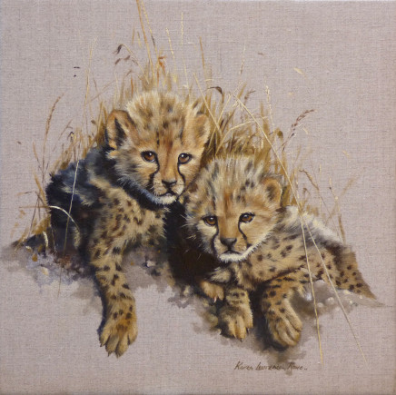 Karen Laurence-Rowe  FOUNDLINGS  Oil on linen  28 x 28cm