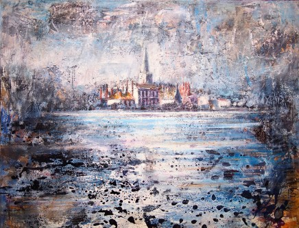 "Peter Kettle  ABINGDON ON THAMES  Watercolour, Oil, Acrylic, Ink  43"" X 24"""