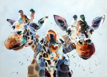 Jake Winkle  LITTLE HIGH, LITTLE LOW, DO THE FANDANGO  Watercolour  51 X 71cm