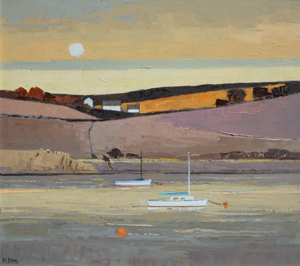"Mary Pym  KINSALE EVENING  Oil on board  18"" X 20"""
