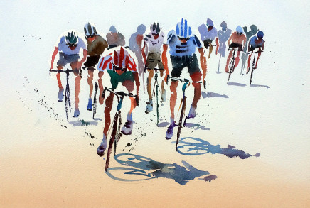 "Jake Winkle CYCLEMANIA Watercolour 13"" x 18"""