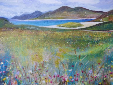 "Lindsay Keir  HEBRIDEAN MACHAIR  Oil on board  16"" x 12"""