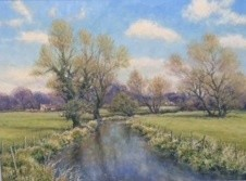 Mervyn Goode - APRIL BREEZE OVER THE RIVER
