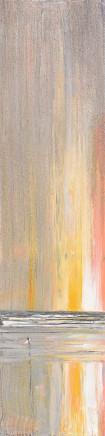 "Jethro Jackson POLZEATH SUNSET I Oil on board 35"" x 10"""