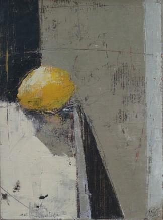 """Ann Armitage LEMON Oil on canvas on board 8"""" x 6"""""""