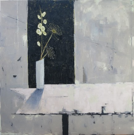 """Ann Armitage NIGHT HONESTY AND UMBELS Oil on linen 39"""" x 39"""""""