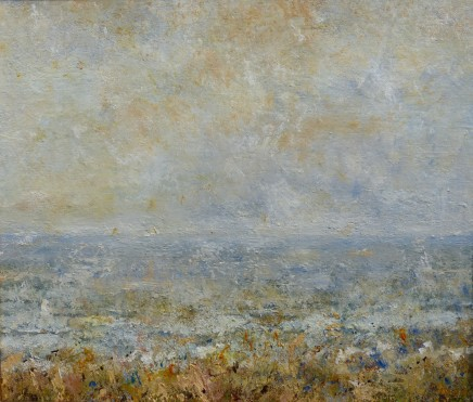 "David Walsh WINTER LIGHT ON SEA Oil on canvas 18"" X 22"""