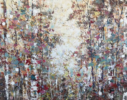 "Paul Treasure GOLDEN WOODS Oil on canvas 48"" X 59"""