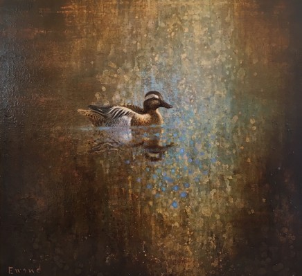 "Ewoud de Groot GARGANEY Oil on linen 31.5"" x 31.5"""