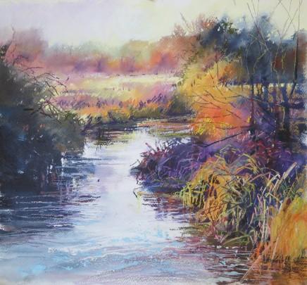 "Maureen Davies WINTER COLOURS Oil on Paper 23"" x 20"""