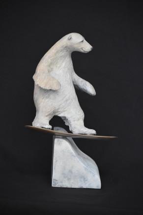 """Bryn Parry BEAR BOARDER Bronze 14"""" X 9"""" X 8"""""""