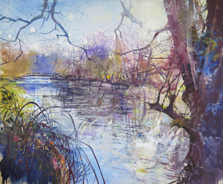 "Maureen Davies FRAGMENTS OF WINTER LIGHT Pastel and gouache 22"" x 26"""