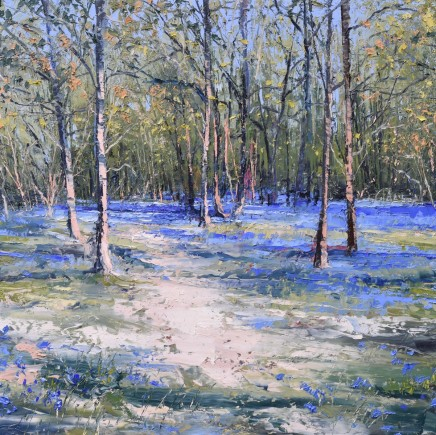"Colin Carruthers EARLY BLUEBELLS Oil on Canvas 24"" X 24"""
