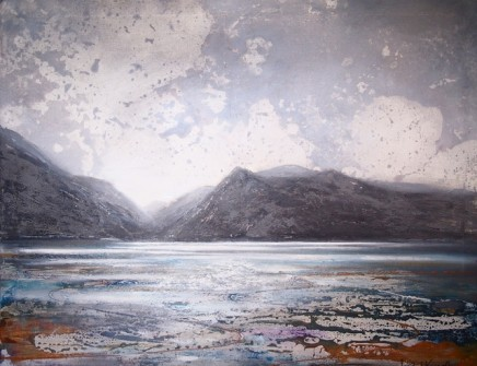 Peter Kettle  LLYN PADARN - LLANBERIS  Oil, Acrylic, Watercolour Ink