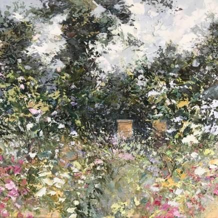 "Paul Treasure HONEY FLOW Oil on canvas 40"" X 40"""