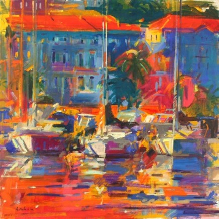 "Peter Graham COTE D'AZUR REFLECTIONS Oil 36"" X 36"""