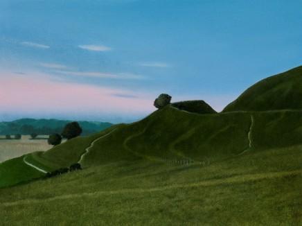 "Michael Bennallack Hart  MAIDEN CASTLE DUSK  Oil on canvas  18"" x 24"""