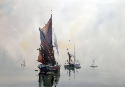 "Jake Winkle A QUIET PLACE Watercolour 28"" x 39"""