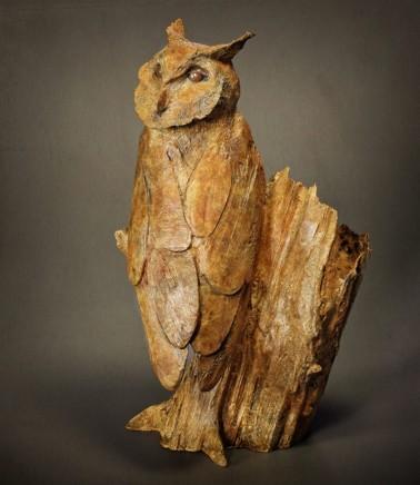 Michael Storey, BARN OWL ON OAK