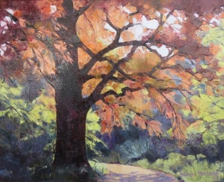 """Frederike Stokhuyzen  SPRING, DITCHAM, HAMPSHIRE  Oil on canvas  16"""" X 19"""""""