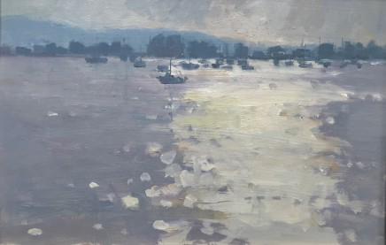 "Alice Boggis-Rolfe BEMBRIDGE HARBOUR Oil on Panel 8"" X 12"""